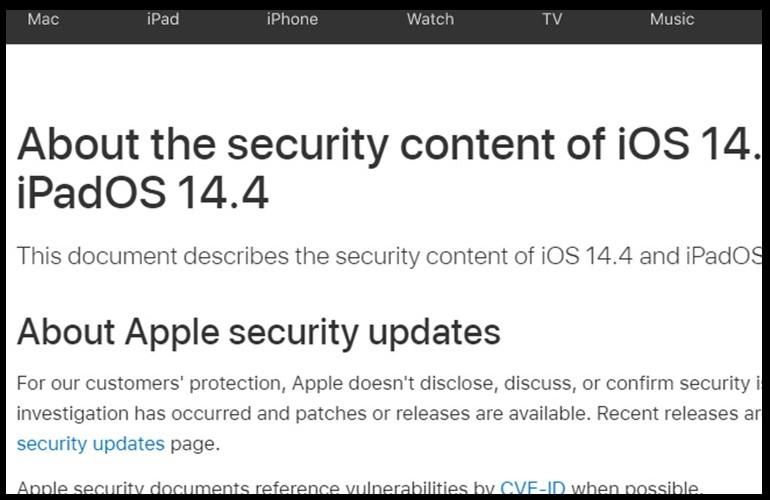 iPhone Security Update