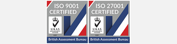 Achieved ISO9001 and ISO27001 quality assessment standards