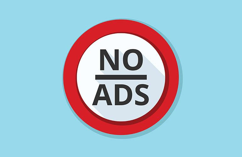 No more ads!